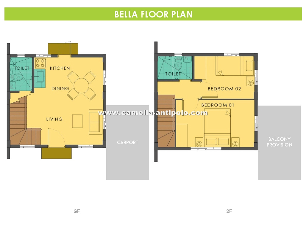Bella House and Lot in Camella Sierra Metro East