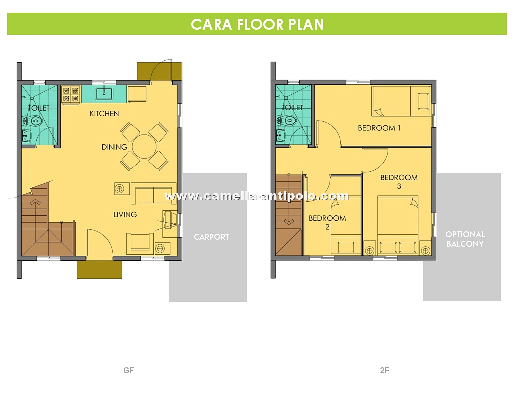 Camella sierra metro east cara house and lot for sale in for Interior house design of camella homes