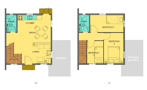 Cara Floor Plan House and Lot in Camella Sierra