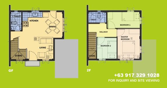 Carmela Floor Plan House and Lot in Camella Sierra Metro East