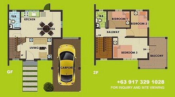Carmina Downhill Floor Plan House and Lot in Camella Sierra Metro East