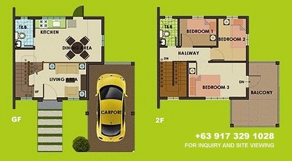 Carmina Uphill Floor Plan House and Lot in Camella Sierra Metro East