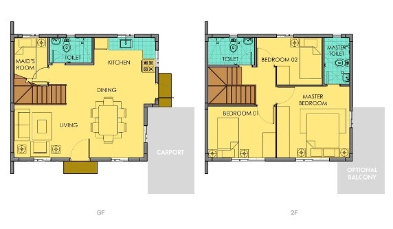 Dana Floor Plan House and Lot in Camella Sierra
