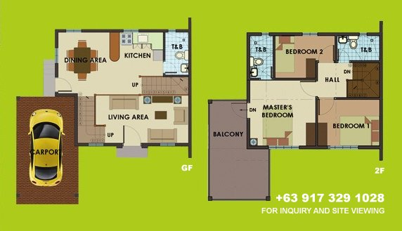 Dorina Uphill Floor Plan House and Lot in Camella Sierra Metro East