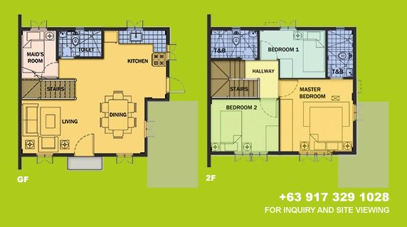 Drina Floor Plan House and Lot in Camella Sierra Metro East