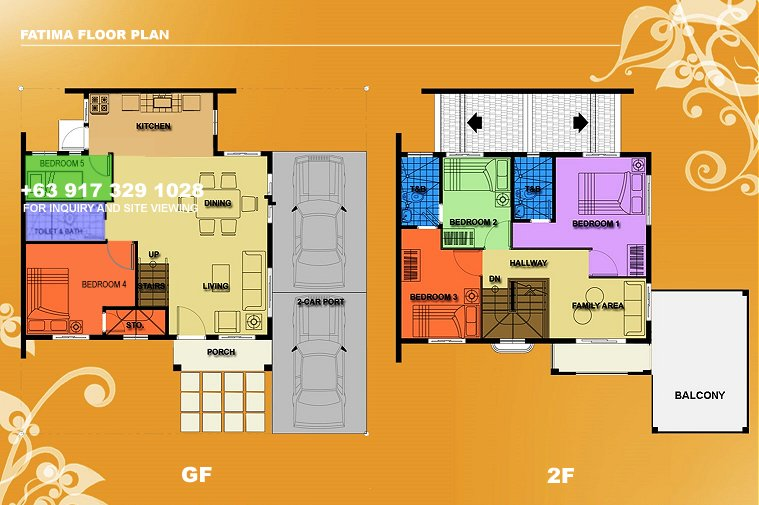 Fatima Floor Plan House and Lot in Camella Sierra Metro East