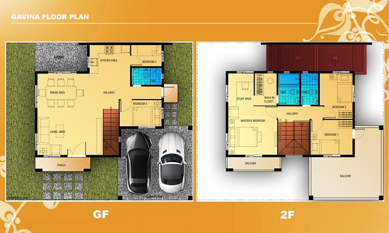 Gavina Floor Plan House and Lot in Camella Sierra Metro East