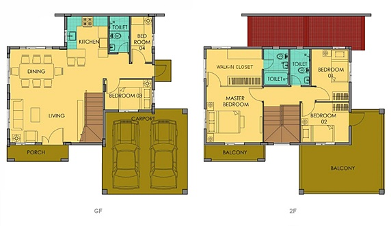 Greta Floor Plan House and Lot in Camella Sierra